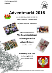 Flyer: Adventmarkt Pfadfinder
